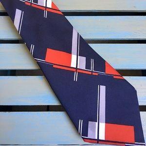 Groovy 70's Men's Vintage Italian Polyester Tie